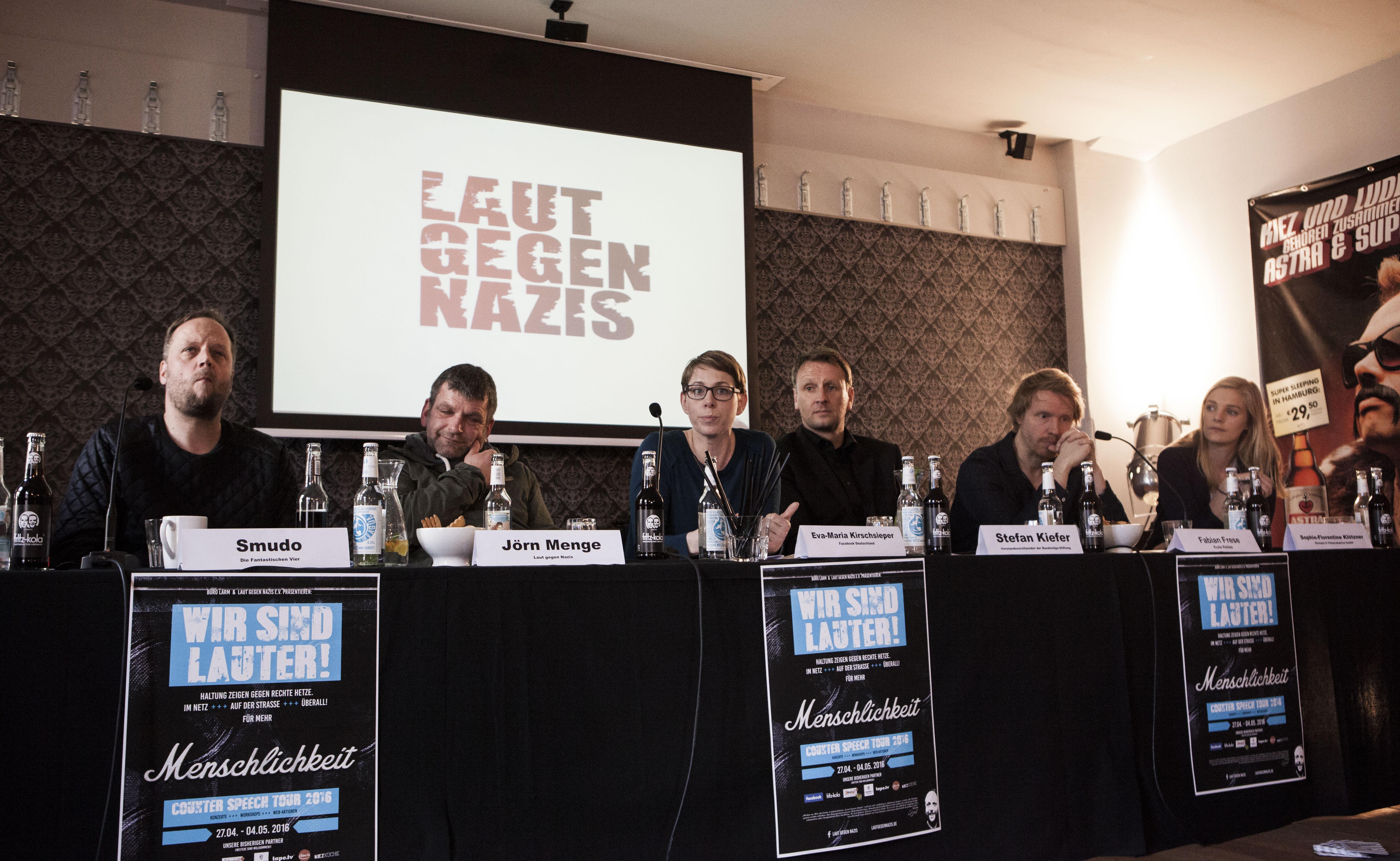 Foto: Pressekonferenz im Januar 2016 in der Superbude Hamburg -
